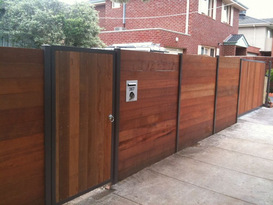 Fences gates landscaping services melbourne 0409 004 404 with the standard block size becoming smaller why not utilise your frontyard by installing a secure front fence and gate to provide a safe environment for workwithnaturefo