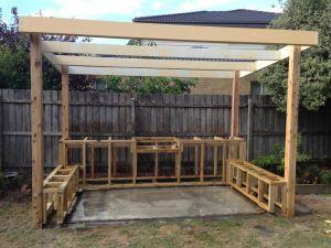 BBQ Area frame